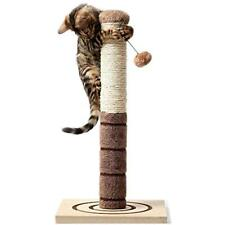 4 Paws Scratching Posts Stuff Tall Cat Interactive Toys - Cats Kittens Plush 22