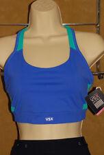 VICTORIA'S Secret - VSX Sport - Two Tone Blue - Stylish Sports Bra sz L *NEW TAG
