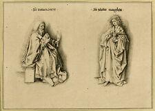 Rare Antique Master Print-SAINTS-BARTHOLOMEW-JOHN-Van Eyck-Prestel-1776-1780
