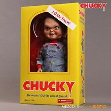 Mezco Child's Play Sneering Chucky 15 Inch Talking Doll New and In Stock !!!