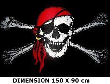 DRAPEAU 150 X 90 cm PIRATE JACK RACKHAM FLAG PAVILLON CORSAIRE TETE DE MORT ...