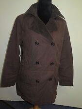 Ladies Barbour L2011 Double Breasted Waxed Cotton Coat UK 16 Euro 42 - Brown