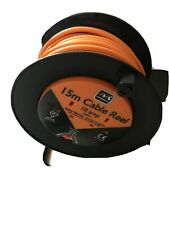 15m Meter Extension Lead Cable Reel 10 Amp Safety Thermal CutOut