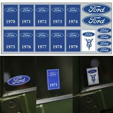 Window Sticker Set Fits 1970-1979 Ford 70s Genuine Muscle V8 Blue Oval Decal OE