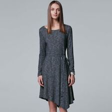 Simply Vera Vera Wang Asymmetrical Shift Dress Gray Women's Sz M NWT MSRP$58