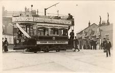Ilford Council Tramways Tram at Ilford Station postcard size RP on card W Hornby