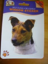 JACK RUSSEL SMOOTH COATED DOG DOUBLE SIDED WINDOW STICKER