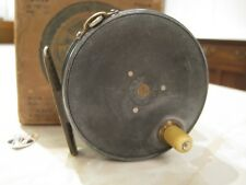 Rare Early Hardy Perfect 3 1/4 Inch Right Hand Wind Trout Fly Reel & Card Box