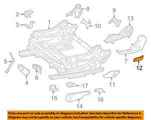 Mercedes MERCEDES-BENZ OEM 12-15 ML350 Seat Track-Lower Cap Right 16691074049051