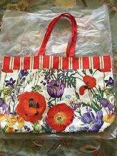 Estee Lauder Flower Floral Red Large Tote Shopping Bag, Beach Bag, Handbag New!
