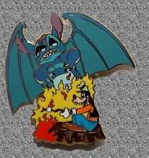 Stitch as Chernabog (Fantasia) with Goofy  Pin - DISNEY AUCTIONS Pin LE 500 -