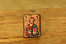 Icon of Jesus Christ, Greek Russian Christian Orthodox, Made of Wood