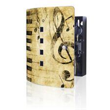 banjado Schlüsselschrank Schlüsselkasten aus Edelstahl Motiv Music
