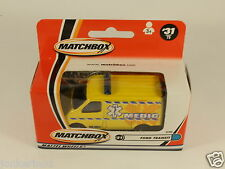 MATCHBOX 50 YEARS #31 FORD TRANSIT MEDIC AMBULANCE 92900 MATTEL WHEELS [OF3-92]