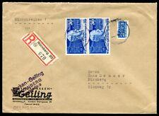 BUND 1949 116,116I STEPHAN UPU im PAAR als MEHRFACHFRANKATUR (H5405