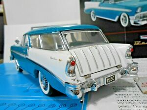 Franklin Mint 1:24 1956 Chevrolet Nomad Wagon Blue/White W/ Papers!