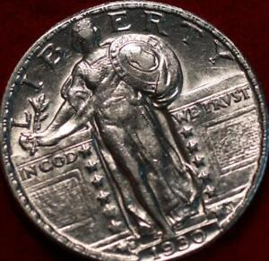 Uncirculated 1930-S San Francisco Mint Silver Standing Liberty Quarter