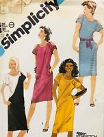 Vintage 1980's PEEP SHOULDER STRETCH KNIT DRESS SEWING PATTERN ~ Size 12 UNCUT