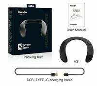 Hs Neck-mounted Bluetooth 5.0 Speaker Portable Wireless Speaker Bass FM radio SD