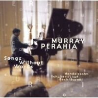 MURRAY PERAHIA-SONGS WITHOUT WORDS  CD 23 TRACKS SOLO PIANO LISZT/BACH/UVM NEW