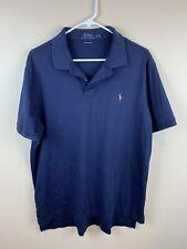 Polo Ralph Lauren Pima Soft Touch Men Polo Shirt Short Sleeve Blue XLarge XL