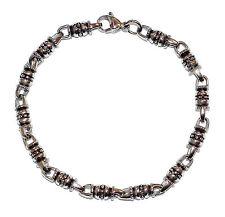 """FRED BENNETT Stainless Steel 9"""" Multi Bead Bracelet - Was £40"""