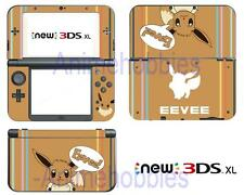 Anime Pokemon Eevee Cute Vinyl Skin Decals Stickers for Nintendo New 3DS XL 2015