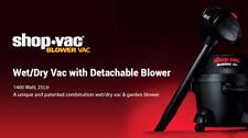 SHOP VAC BLOWER VAC Wet&Dry Vacuum with Detachable Blower  3 YEAR WARRANTY
