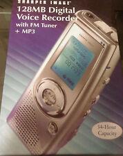 Sharper Image 128MB Pocket Digital Voice Recorder, FM Tuner & MP3 (DS701)
