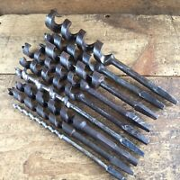 Vintage FORD Pattern x 9 DRILL BITS Wards Old Antique Hand Brace Bit Tool #156