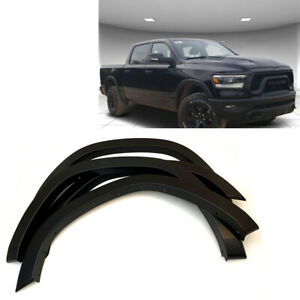 2019-2020 RAM 1500 Smooth Matte Black Fender Flares OE Style 4 PCS Paintable