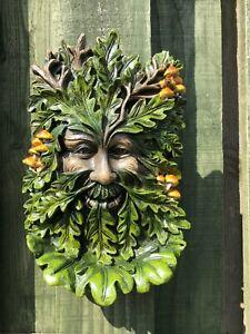 Elderwood Greenman Decorative Garden Wall Plaque Green Man New Boxed 24cm