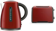Breville BKE495CRN Soft Top Kettle + BTA425CRN 2 Slice Toaster Pack - Cranberry