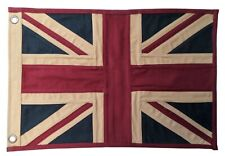 More details for united kingdom uk union jack fully sewn aged & vintage-look flag 49cm x 33cm