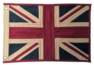 United Kingdom UK Union Jack Fully Sewn Aged & Vintage-Look Flag 49cm x 33cm