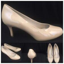 ROCKPORT Adiprene Adidas Patent Leather Nude Court Shoes UK 6 EU 39