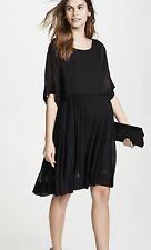 NWT HATCH Chiffon BLACK Maternity The Lucia Dress, Size 0 (US 0-2)