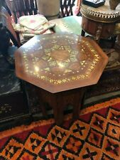 ottoman wooden mother of pearl inlay table