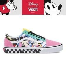 New VANS X DISNEY Old Skool 80S Mickey Mouse Pink White Sneakers Limited Edition
