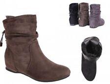 Damen Stiefeletten Blok-Absatz Winterschuhe Boots warm gefüttert Abstatz KA16881