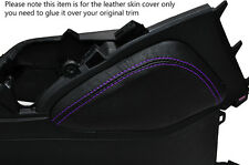 PURPLE STITCH 1X LEATHER KNEE PADS SKIN COVERS FITS HONDA CIVIC SE SE-T EX 2012+