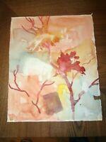 "Original Watercolor by Peg Humphreys, Floral Abstract 13.5"" x 11.25"""