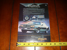1985 Olds Cutlass 442 - Oldsmobile 4-4-2 Original Ad