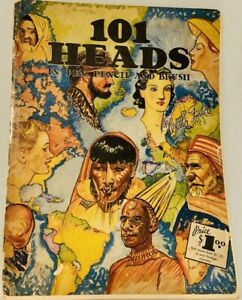 Vintage Art Book 101 Heads in Pen Pencil and Brush Types Around The World