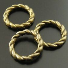 400X Vintage Style Bronze Tone Round Jump Rings Findings Charms 8mm