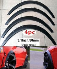 "4PC 3.1""/80mm Universal Flexible Car Fender Flares Extra Wide Body Wheel Arches"