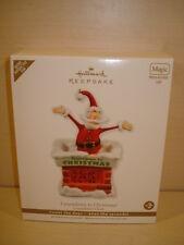 NEW 2011 Hallmark Keepsake Ornament Santa Claus Countdown To Christmas Clock