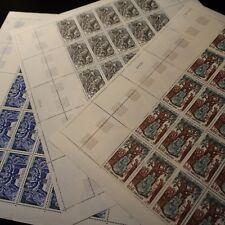 FEUILLE SHEET SELLO GRANDES NOMBRES DE LA'HISTORIA Nº1537/1539 x25 NEUF LUXE MNH