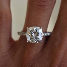 Women Cushion Cut Engagement Ring White Gold Finish Wedding Promise Size J-T