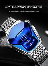 Montre Automatique Quartz Sport Homme Bracelet Horloge Metal Acier Cadran Luxe